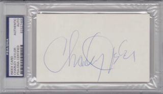 PSA DNA Signed Auto Index Card Charley Taylor 7466