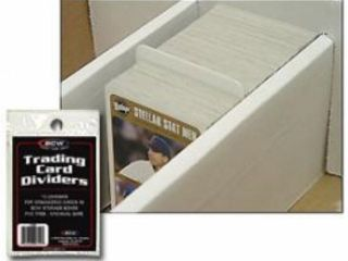 50 BCW Trading Card Storage Box Plastic Dividers