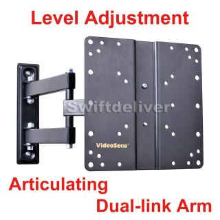 """Full Motion Tilt Swivel LCD LED TV Monitor Wall Mount 22 23 24 26 27 32"""" 37"""" MBC"""