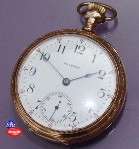 Antique Waltham 15 Jewel Gold Filled Crescent Case Pocket Watch