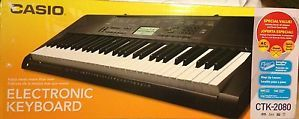 New Casio CTK 2080 61 Key Electronic Keyboard Stand AC Adapter Kit CTK2080
