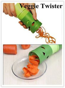 New Vegetable Veggie Twister Spiral Cutter Slicer Kitchen Tool Garnish Salad