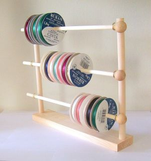 Scrapbook Ribbons Storage Rack Organizer 50 Spools