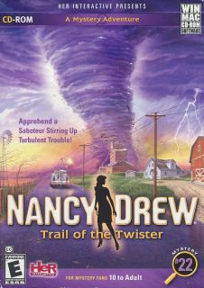 Nancy Drew 22 Trail of The Twister Mystery Adventure PC Game Windows Mac New 767861600779