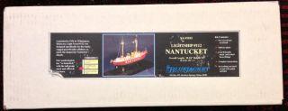 """New Bluejacket SHIP Crafters Kit 1015 Lightship 112 """"Nantucket"""" Wooden Model"""