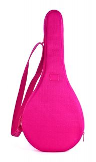 Michael Kors Jet Set Neon Pink Neoprene Tennis Racket Case Bag Cover NWT