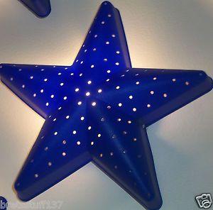 IKEA Kids Smila Star Light Wall Lamp Night Soft Lighting Childrens Room Blue New