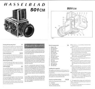 Hasselblad 501cm Instruction Manual