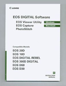 Canon EOS Digital Software Instruction Manual F Windows Mac Original