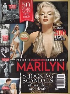 Marilyn Monroe Magazine The Enquirer's Secret Files Shocking Scandals