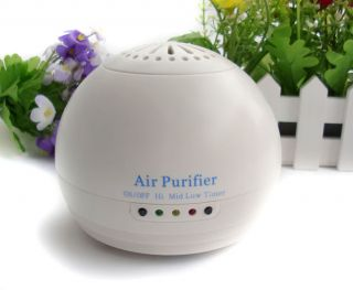 White Portabl Mini Office Home Negative Ionic Air Purifier Cleaner Green Breathy