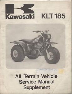 1986 Kawasaki ATV KLT 185 Supplement Service Manual