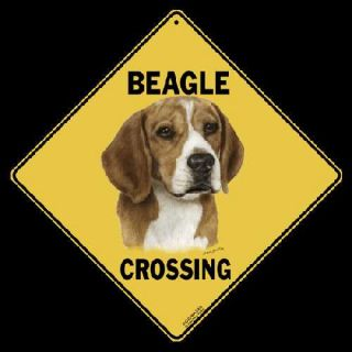 Beagle Crossing Sign New 12x12 Aluminum All Weather Dog