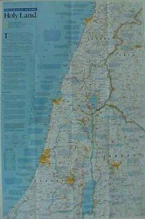 Bible Map Holy Land Jerusalem Nazareth Israel Palestine