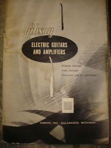 RARE Vintage 1955 Gibson Electric Guitars Amplifiers Catalog Les Paul
