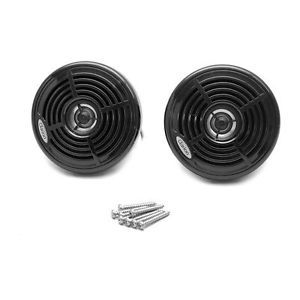 Clarion CM4003 Blk 4 in Marine Motorcycle 50W 4ohm Boat Audio Speakers Pair