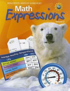 Math Expressions Grade 4 Student Activity Book Houghton Mifflin Math Expressio
