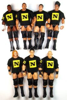 7x WWE Nexus Wrestling Action Figure Kid Toy Wade Barrett Otunga Slater Ryback