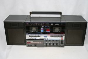 Vintage Sharp GF 810 Ghetto Blaster Boombox Tape Cassette Player Radio
