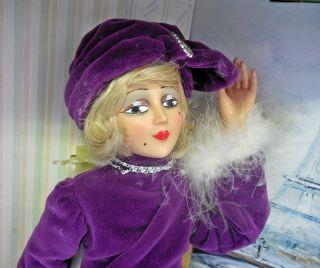 """RARE 25"""" Zanini Zambelli Italy Nouvelle Vogue 1920s High Fashion Doll Box"""