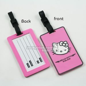 Luggage Tag 3 Airlines Eva Air Flight Attendants Pink Hello Kitty Luggage Tag