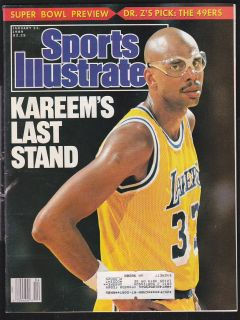 1989 Sports Illustrated Kareem Abdul Jabbar Lakers
