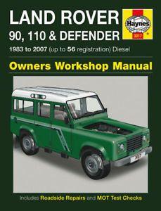 Land Rover Defender 90 110 TD5 Diesel Haynes Manual New