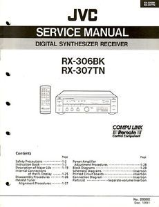 JVC Original RX 306BK 307TN Receiver Service Manual