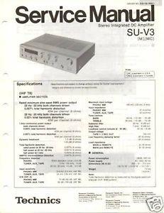 Original Technics Service Manual Su V3 Int Amp