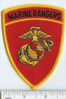 USMC Marines Patch Marine Rangers Qualified ft Benning