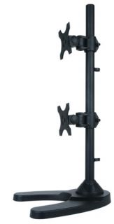 """Dual LCD Monitor Desk Stand Mount Free Standing Vertical 2 Screens Upto 27"""""""