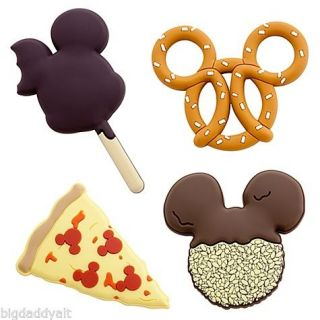 New Disney World Mickey Mouse Icon Snack Food Magnets 4 PC Set Pretzel Ice Cream