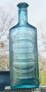 Simmon's Liver Regulator Antique Medicine Bottle C 1880'S