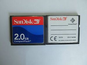 2GB SanDisk Compact Flash CF Memory Card