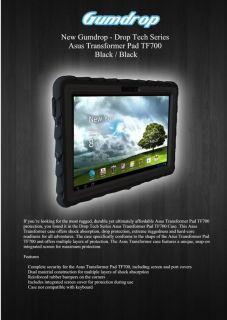 Gumdrop Drop Tech Series Protective Case Asus Transformer Pad TF700 Black Black