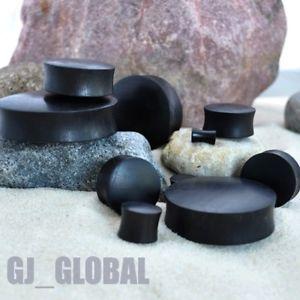 Pair of Black Areng Wood Ear Plugs Big Gauges Organic Natural Plug Earlet