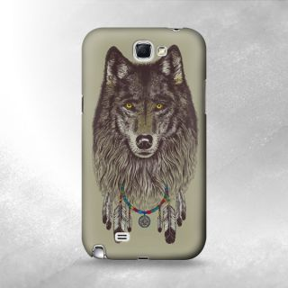 S1025 Grim Wolf Indian Case Cover for Samsung Galaxy Note 2