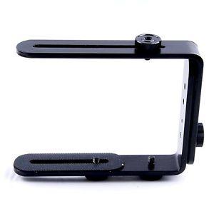 Adjustable Multi Angle Universal Black Metal Camera Flash Brackets L Brackets