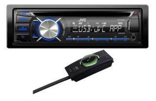 JVC KD R442 CD MP3 Car Stereo USB Android Ready with KS BTA100 Bluetooth Adaptor
