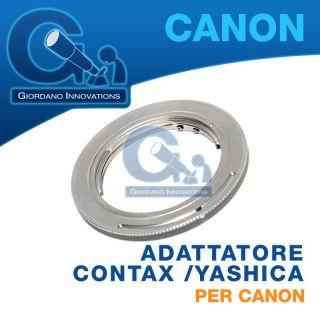 ►►anello Adattatore Obiettivi Contax Yashica per Canon EOS 5D 5D Mark II 7D◄◄