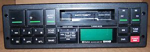 Saab Clarion Radio Model PU 9079B Stereo Cassette Tape Player Deck Car Audio