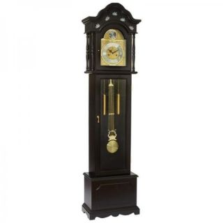Edward Meyer Grandfather Clock with Mother of Pearl Inlay 31 Day Movement