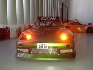 Custom Build 1 10 RC Drift Car Nissan s13 with Light Kit