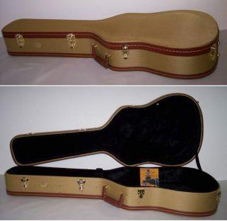 Blemished Classic Tweed Acoustic Guitar Hard Case w Key Locking 3419