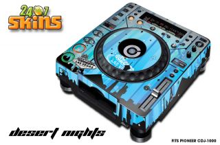 Skin Decal Sticker Wrap Pioneer CDJ 1000 MK3 DJ Turntable CD Pro Audio D Night