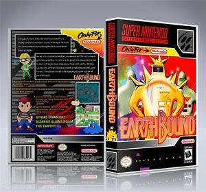 No Game Earthbound Custom Super Nintendo Game Case New SNES Collectors Box