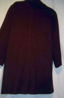 Kristen Blake Plum Purple Wool Pea Coat Women XS