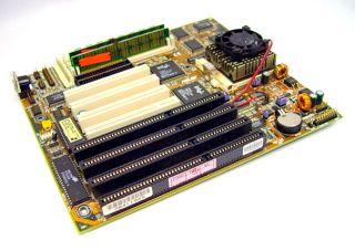 Asus VX 97 VX97 Socket 7 Motherboard 4 ISA Intel Pentium MMX P55C 200MHz