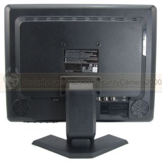 """15"""" TFT LCD Display Video TV Security Color Monitor with VGA HDMI BNC Input"""
