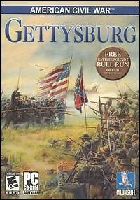 American Civil War Gettysburg PC CD Battle Between States Troops Strategy Game